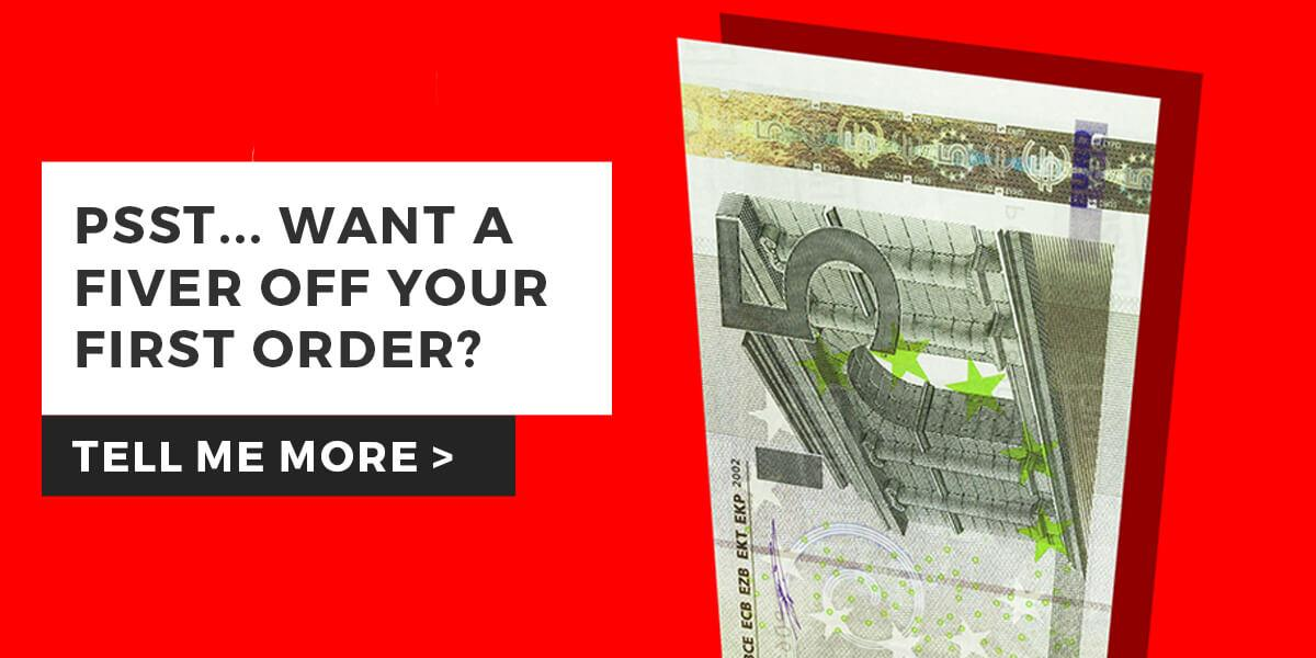 Save €5 Now - Sign Up